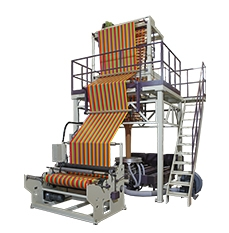 CT-TC3 HDPE / LDPE Stripe Three Color Co-extrusion Blown Film Machine