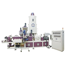 Co-Rotary Twin Screw Extrusion Line for PE Film recycle + CaCo3 Compounding