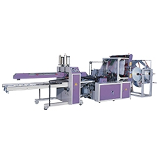 Fully Automatic Double Layer Flat T-shirt Bags Making Machine