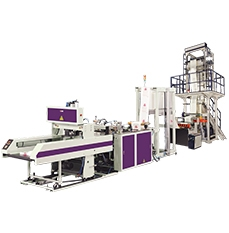 In-Line Fully Automatic One Track T-shirt Bags Making Machine