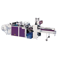 Fully Automatic Two Tracks T-shirt Bags Making Machine