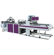 Fully Automatic Three Tracks T-shirt Bags Making Machine